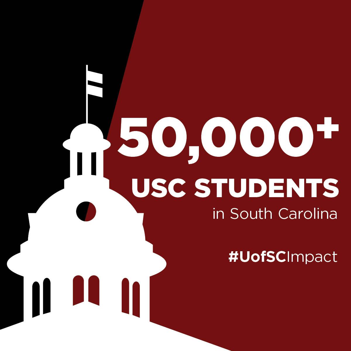 50,000 USC students in South Carolina #UofSCImpact