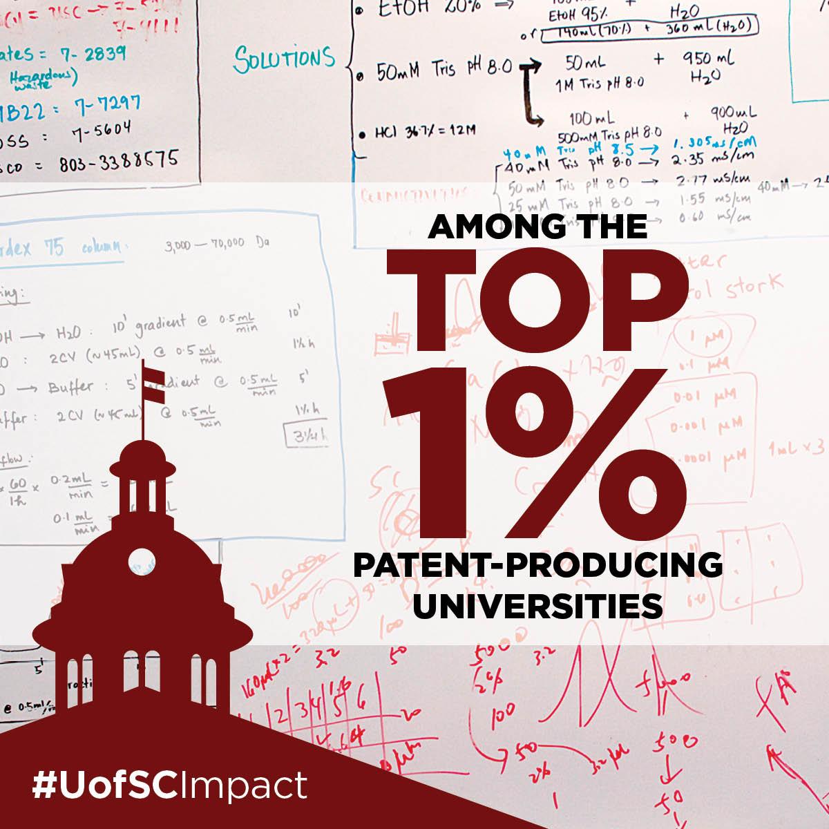 Among the top 1% patent-producing universities