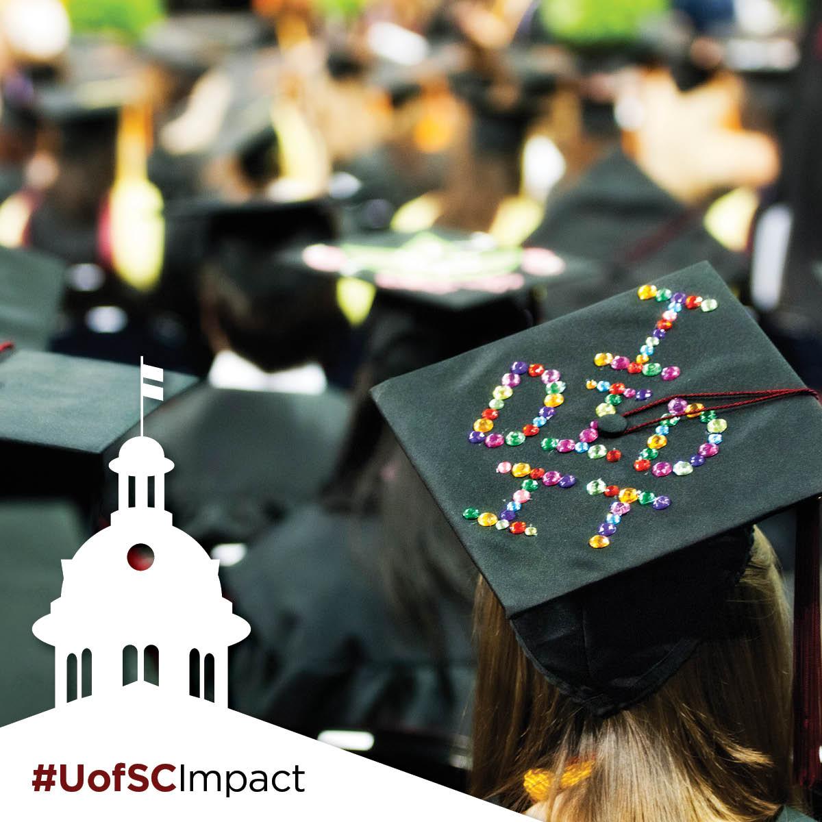 """graduation cap that says """"I Did It"""" #UofSCImpact"""