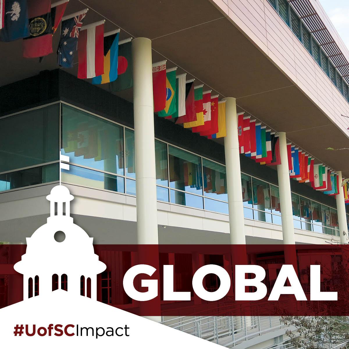 international flags #UofSCImpact