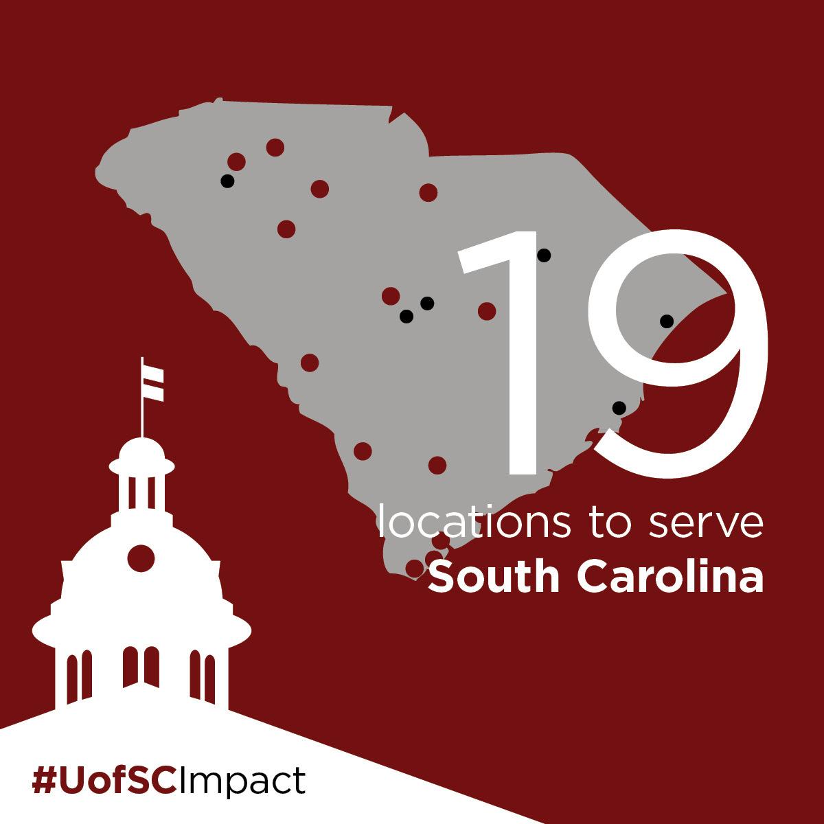 19 locations to serve SC #UofSCImpact
