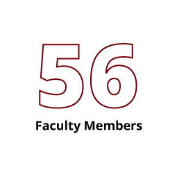 Infographic: 56 Faculty Members