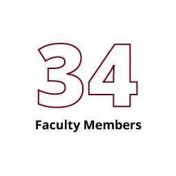 Infographic: 34 Faculty Members